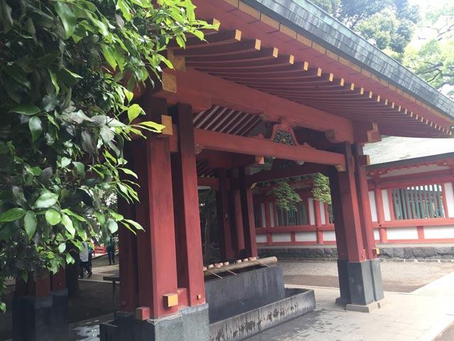 氷川神社 お手水舎