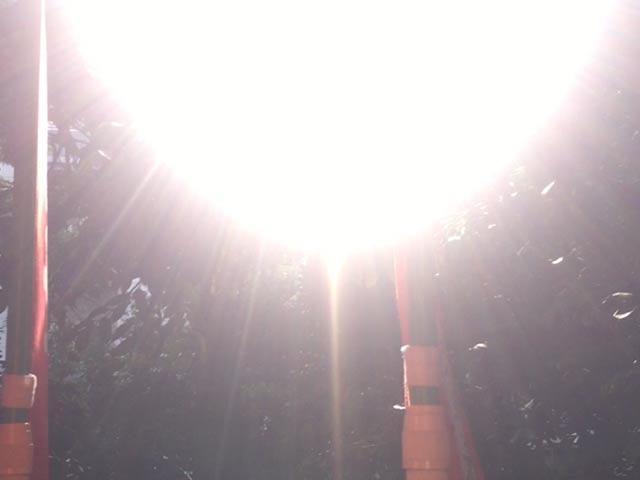 日枝神社 大きな光