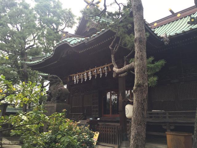 龍が見下ろす荏原神社