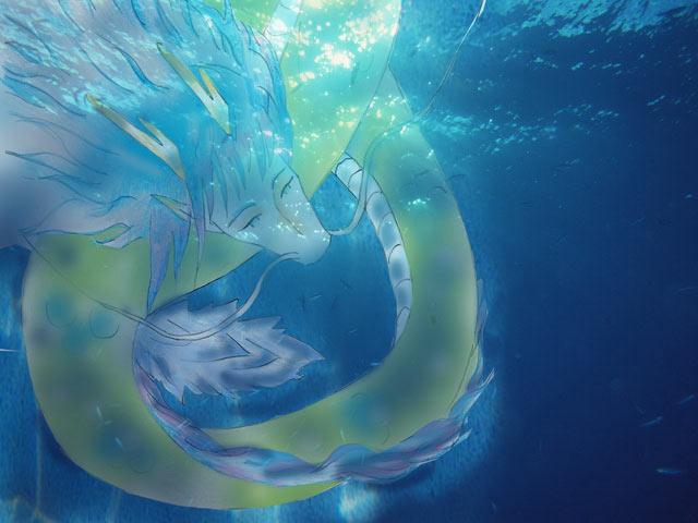 青い龍の名前が決まりました!