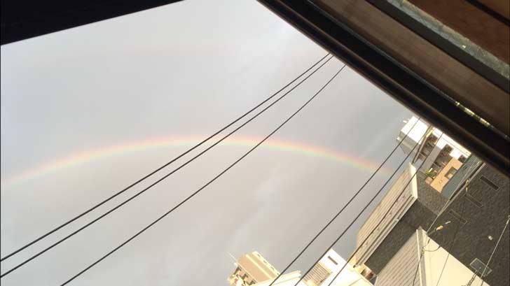 美しい虹が