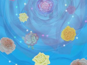 太陽とバラ