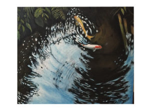 岡谷稲荷神社 鯉