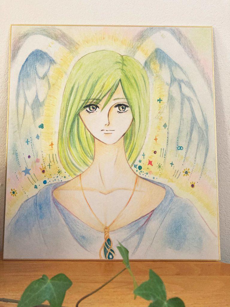 守護天使描きます