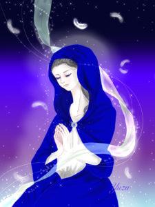 祈りとヒーリングの絵 イラスト