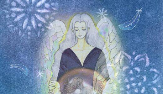 写真で守護天使の絵を紹介してくれました